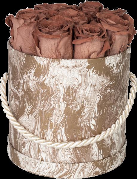 Hutschachtel Motiv Marmor creme