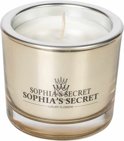 Kerze Sophia's Secret im Glas - Gold