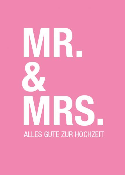 """Grußkarte """"MR. & MRS."""""""